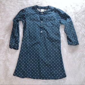 🖤 5 for $20 :Carter's Girls denim polka dot dress